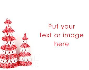 Styled Stock Photography / Christmas Background /  Red and White / Christmas Tree / Stock Photo / White Background / StockStyle-899