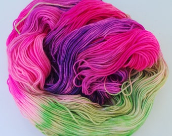 Dye Job: Hand dyed superwash merino sock 4 Ply 100g