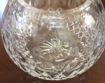 Vintage Cut Crystal Bud/Flower Vase