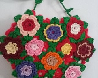 Crochet Heart,Crochet Flower's Heart,Crochet Gift for All Occasion ,Crochet Home Decoration,Handmade Gift,