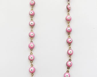 Pink Eye Layering Chain