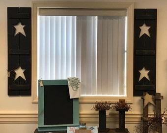 Country Primitive Indoor Star Shutters
