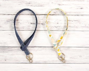 Id Badge Holder- Lanyard - Id Holder- Key Lanyard - Teacher Lanyard - Fabric Lanyard - Keychain- Badge Holder- Teacher Gift- Nurse Gift