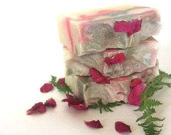 Grandma's Garden: Handmade Soap - Rose Scented Soap - Dry Skin Soap - Bar Soaps - Kaolin Clay Soap - Floral Soap