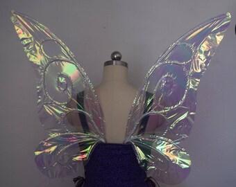 Medium Simple Tinkerbell Inspired Iridescent Fairy Wings