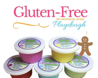 Clean Dough, Gluten Free, Playdough. The Natural Way! NO Artificial Colors!