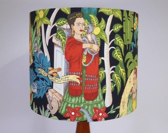 Frida's Garden Lampshade | Frida Kahlo Lamp Shade | Black | Handmade in Australia