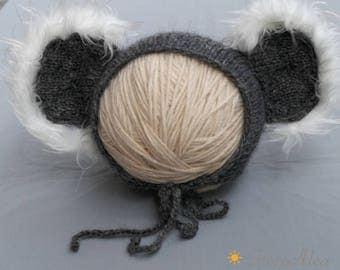 Koala Bonnet size newborn - 6/12 months newborn Photography props