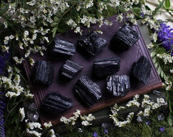 Rough Raw Black Tourmaline Schorl