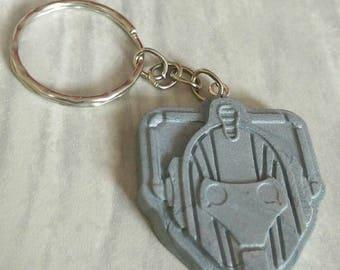 Cyberman Keychain, Cyberman Keyring, Cyberman Accessory