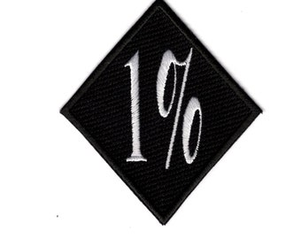 1% One Percent Iron on Patch Badge