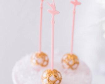 swan lake inspired, ballerina stir sticks,Swizzle Sticks, baby shower, first birthday, 6th birthday, Whimsical Decor, Princess Party, 6 Pack