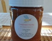 Raw Natural Creamed Long Island Wildflower Honey with Organic Cinnamon (pkg. of 2- 1lb jars)