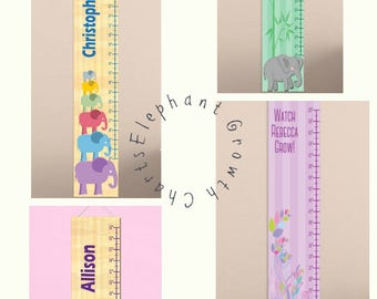 Personalized Growth Chart, Personalized Elephant Growth Chart, Child's Height Chart, Personalized Child's Wall Ruler