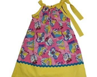 Belle Girls Pillow case dress toddler pillow case dress Princess Belle  girl dress Princess girl birthday dress toddle dress baby dress