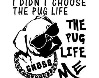 The Pug Life Dog vinyl sticker!!!