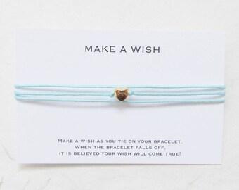 Love bracelet, wish bracelet, friendship bracelet, heart bracelet