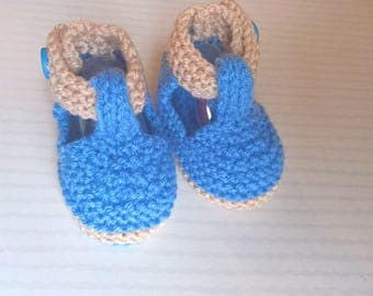 baby booties, wool, baby boy shoes 0/3 months booties baby sandals