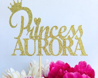 Princess cake topper | Crown cake topper | Princess party decor | Glitter cake topper | Disney princess cake topper | Birthday cake topper