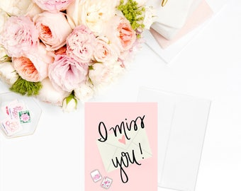 I Miss You Greeting Cards | Stationary Anniversary Card Personalized Gift Gift for Her Best Friend Gift Gift Sister Gift Girlfriend Gift