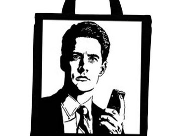 Twin Peaks Dale Cooper Black Canvas Tote