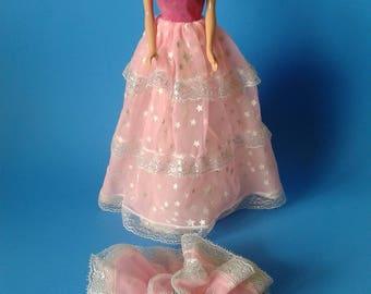 "Barbie Vintage Doll ""#2248 Dream Glow Dress w/Shoes "" 1980's Superstar Era"