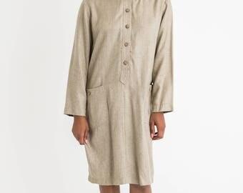 90s Cream Oversized Sack Dress L