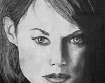 Print of charcoal drawing