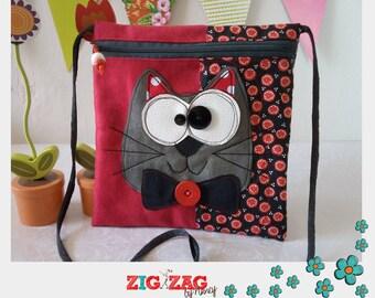 """""""Bigkarre"""" cat red & Black zippered shoulder cover"""