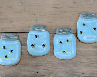 Mason Jar cookies or Mason Jar fireflies/lightning bugs