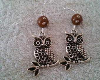 Earring owl (owl)