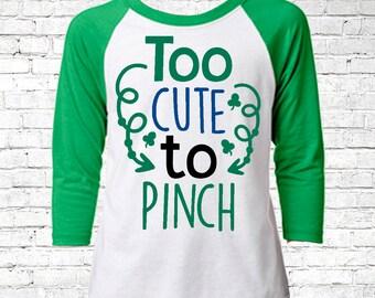 Kids St Patricks Day Shirt, St Patricks Day Shirt, Youth St Patricks Day shirt, Green Shamrock Shirt, Irish Shirt, Toddler Raglan