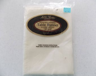 Cross Stitch Fabric Table Runner 14 Count - 1 Piece