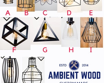 Design your Cage  light vintage Industrial, Antique Edison Bulb, Rustic Lamp, Rustic Lighting