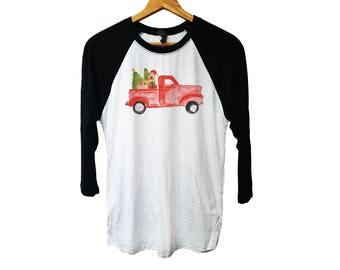 Vintage Christmas, Christmas shirt, vintage truck shirt, Christmas tree, Santa truck, truck with Christmas tree, Christmas tree truck