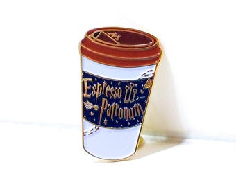 Harry Potter Espresso Patronum soft enamel lapel PIN / Expecto Spell Magic Coffee Starbucks Mug Book Hogwarts / #Miner49ers by BUNCEandBEAN