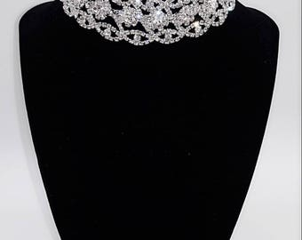 Crystal Choker.  Fancy Choker.  Bridal Choker.