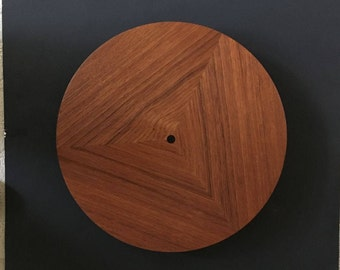 maple lazy susan attactive triangle patten with inlaid center dot beautiful custom made