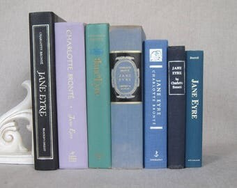 Stack of Seven Jane Eyre Books, Decorative Book Bundle, Hardcover, Charlotte Bronte