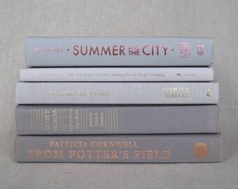 Book Bundle in Shades of Gray, Decorative Set, Wedding Books
