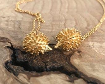 Hedgehog Charm Necklace