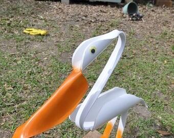 PVC Pelican From Fairhope Yard Art Bird