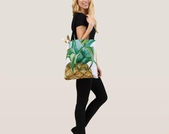 Pineapple Tote bag - Tote bag - Shopping Bag -  Beach Bag - Decorative Tote Bag - Market Tote - Tropical Fruit tote bag