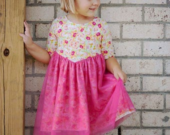 Willow's V-Shaped Top and Dress | PDF Sewing Pattern Toddler Girl Sizes 2T-12