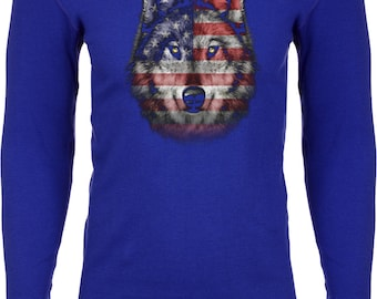 Men's USA Wolf Thermal Shirt 20979D1-N8201