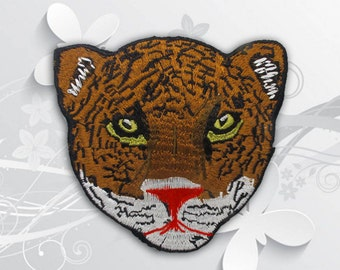 Tiger Iron on Patch (XL2) - Tiger Applique Iron on Patch, Large Embroidered Patch - Size 13(W)x12(H) cm