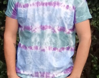 Hippy Tshirt, Unique Tie Dye, Tie Dye T-shirt, Alternative Lifestyle, One Off Tie Dye, Gift for Him,  Festival Clothing, Hippy Gifts