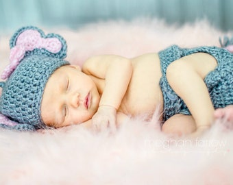 Baby Girl Elephant Outfit - Newborn Elephant Outfit - New Baby Gift - Baby Girl Halloween Costume - Elephant Nursery - Newborn Photo Prop