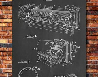 Boiler Patent Print Art 1965