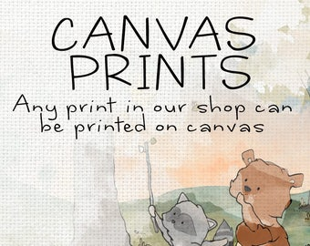 Nursery Canvas Art Prints - Fine Art Canvas Wall Art for your Kid's Room or Nursery